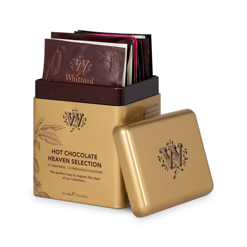 Hot Chocolate Heaven Selection Tin with hot chocolate sachets