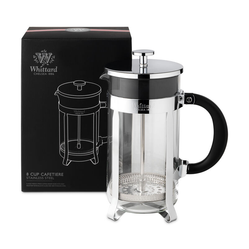 Whittard Chrome 8-cup Cafetière