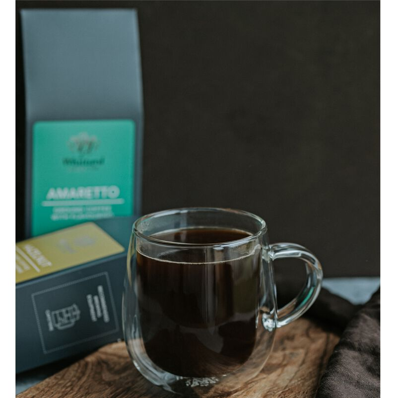 Amaretto Flavoured Coffee Made in a Nova Mug
