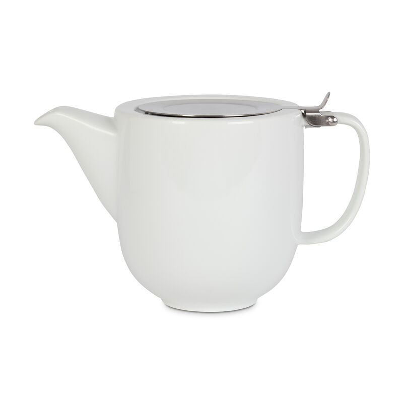 White Fenxiang Teapot with Infuser