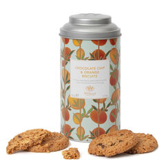 Chocolate Chip Orange Biscuits and Tin