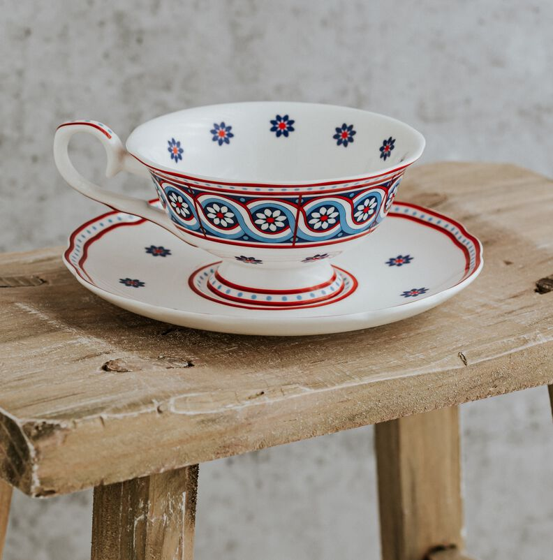 Image of Piccadilly Design Tea Cup & Saucer