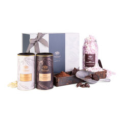 Luxury Hot Chocolate Gift Box with Luxury Hot Chocolate and Luxury White Hot Chocolate with Mini Marshmallows