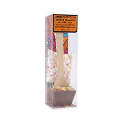 Toffee Flavour Chocolate Spoon with Hazelnuts & Mini Marshmallows