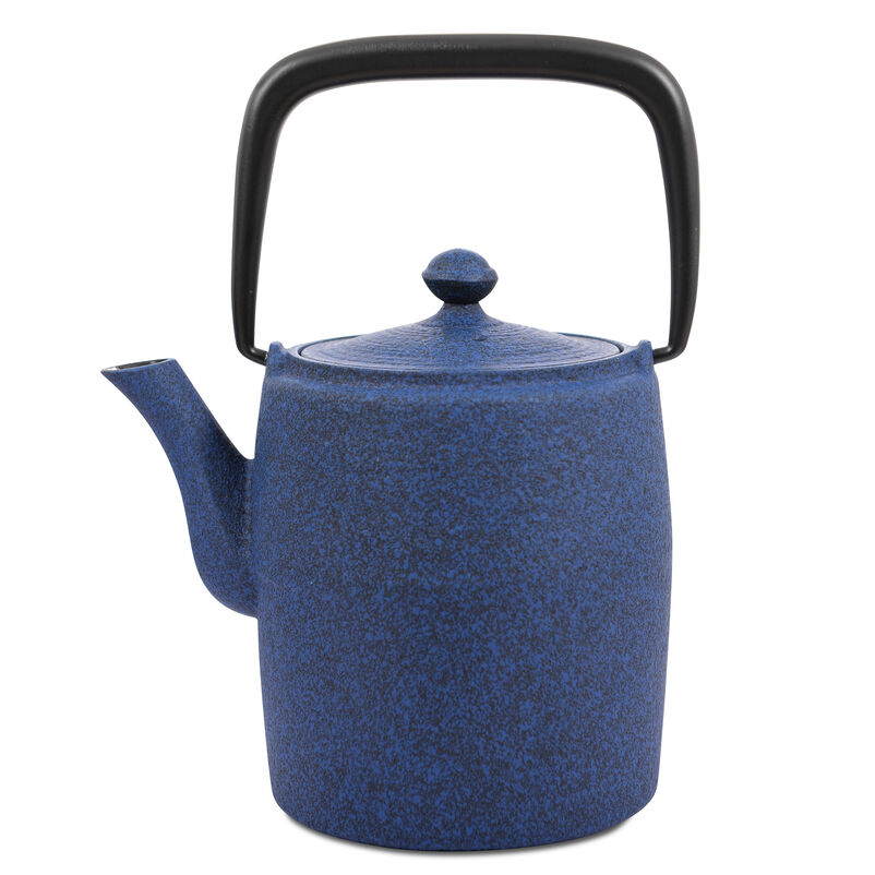 Japanese Tetsubin Medium Blue Cast Iron Teapot