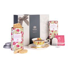 Tea Discoveries Tea Gift Set with Tea Cup & Saucer, Summer Berries Biscuits and English Rose Teabags