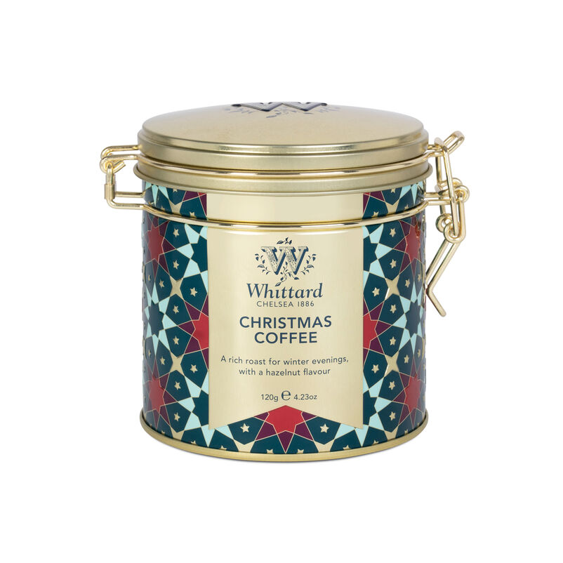 Our Christmas Coffee Clip Top Tin will look chic in any kitchen, and will stack perfectly with our other clip top tins.