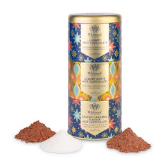 Hot Chocolate Stacking Tin with Luxury, Luxury White and Salted Caramel Hot Chocolate powder