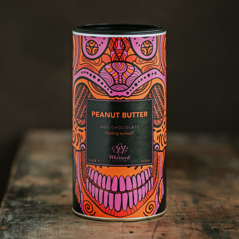 image of Peanut Butter Flavour Hot Chocolate in wooden table