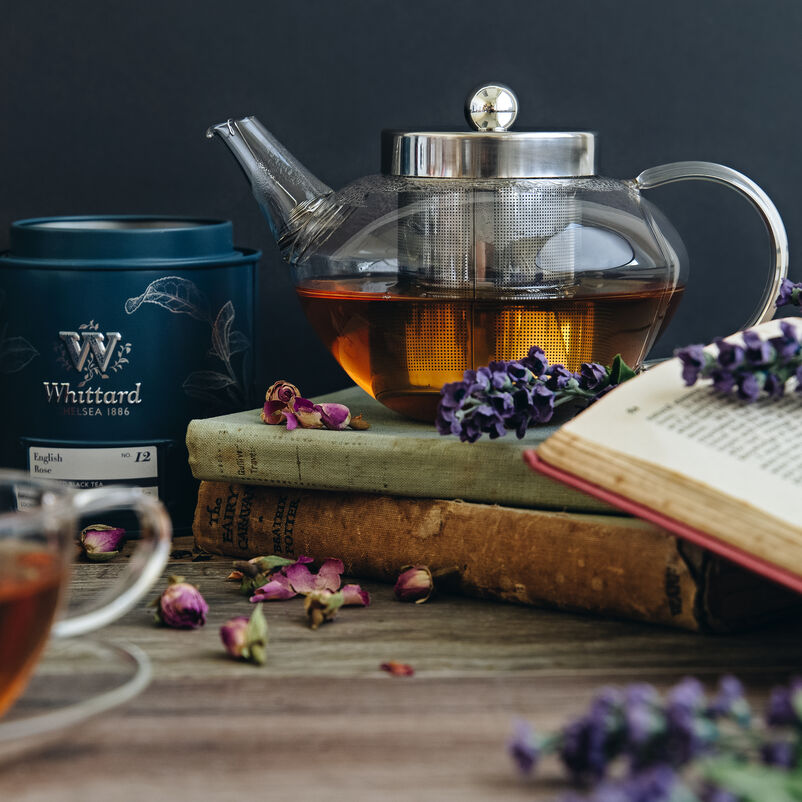 Pimlico Glass Teapot with Infuser with tea caddy