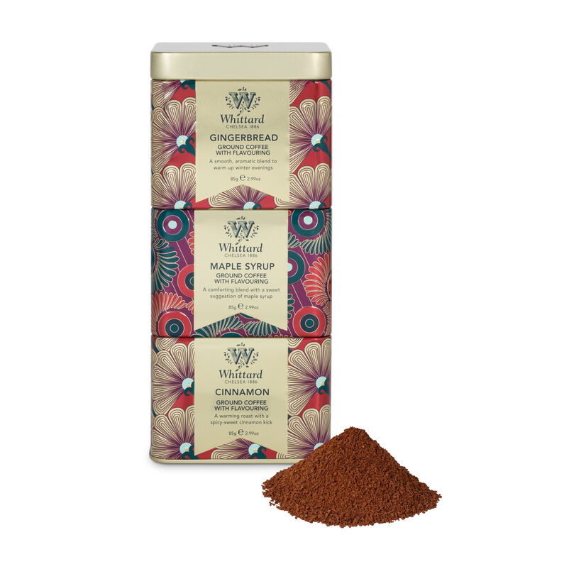 Maple Syrup, Cinnamon and Gingerbread flavour coffees will keep you feeling festive this whole Christmas season.