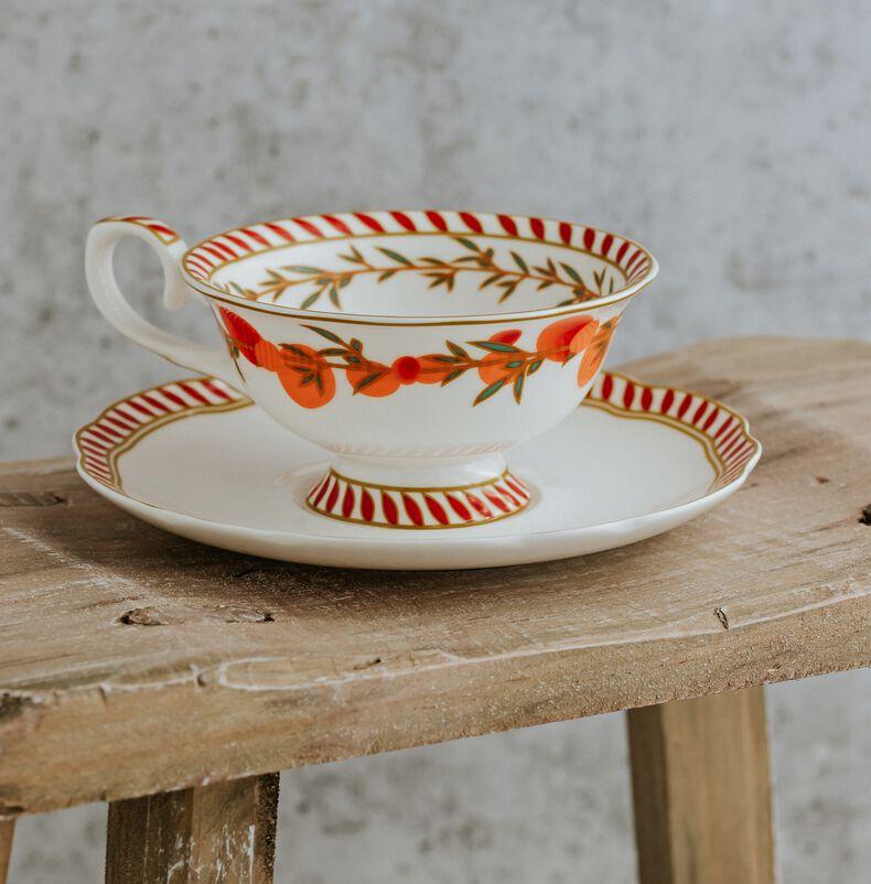 Mango & Bergamot Tea Discoveries Tea Cup & Saucer