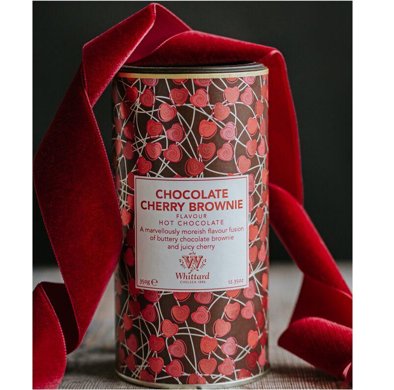 Chocolate Cherry Brownie Hot Chocolate