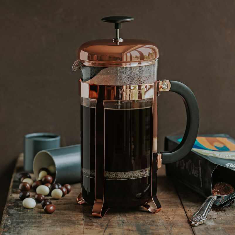 Santos & Java Coffee being made in a cafetiere
