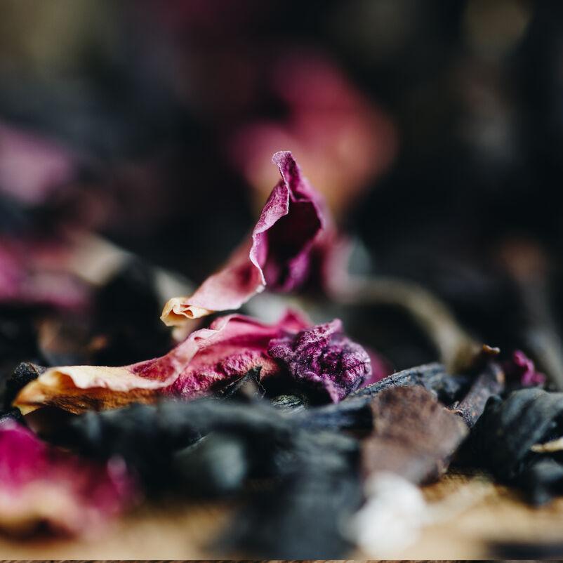 Afternoon Tea Loose Tea close up with flower petals