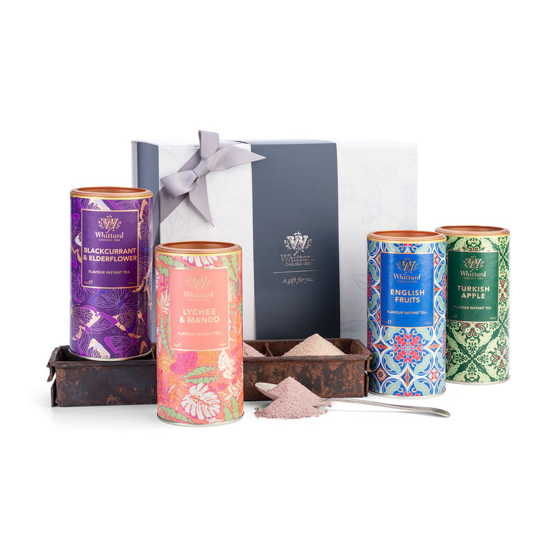 Image of Instant Tea Gift Box with Turkish DElight, English Fruits, Blackcurrant & Elderflower and Lychee & Mango