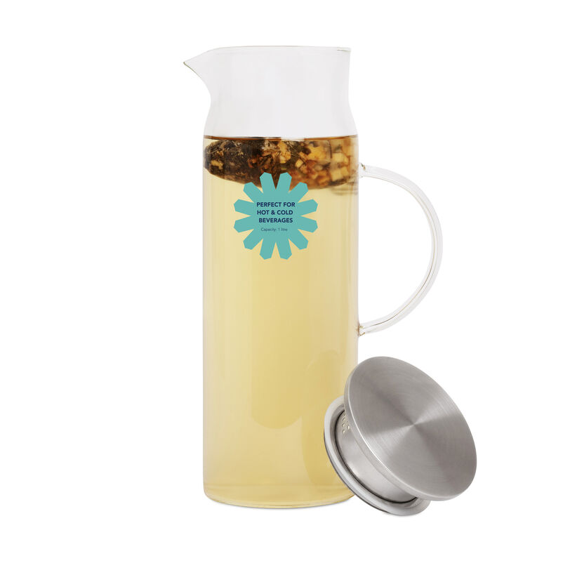 Glass Pitcher with iced tea