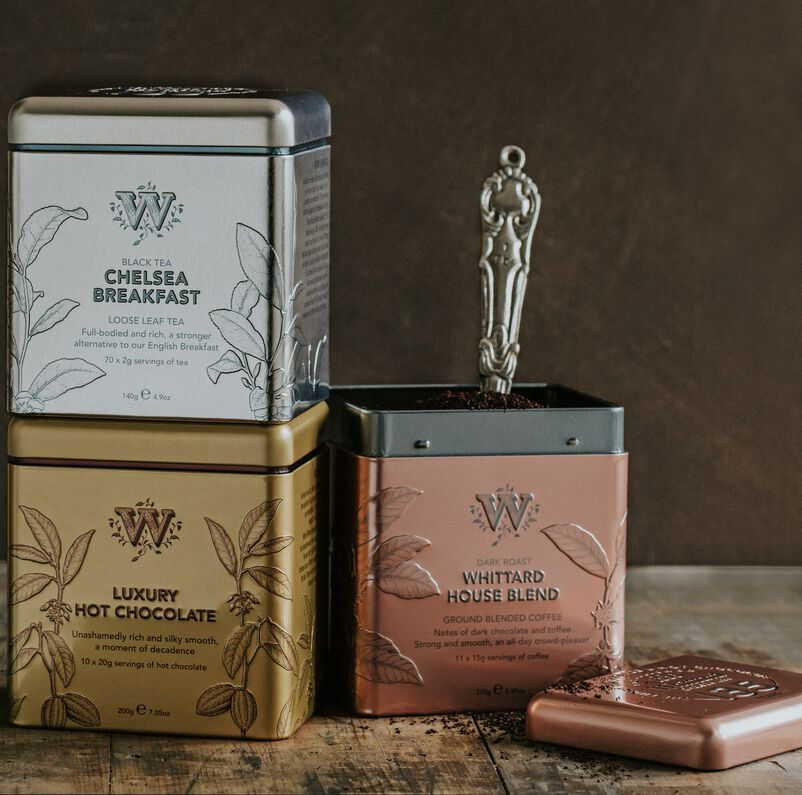 Trio of 135 year limited edition tins