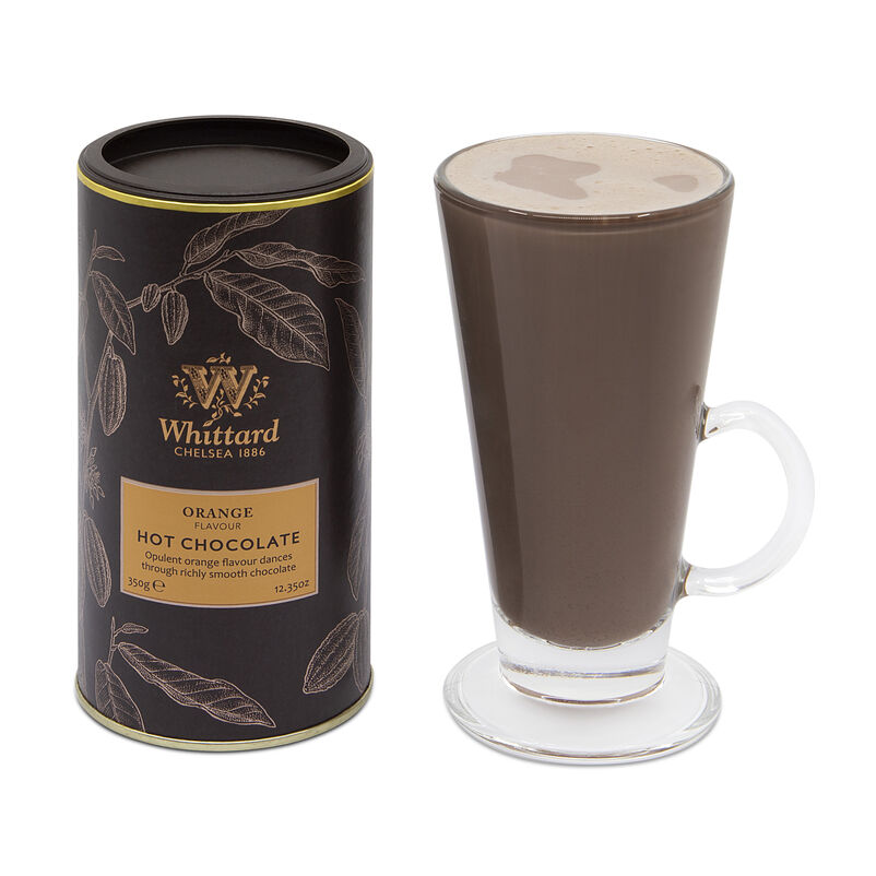 Orange Flavour Hot Chocolate in SoHo glass