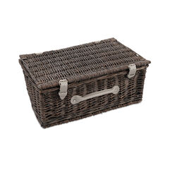 "Image of 14"" Grey Wicker Hamper"
