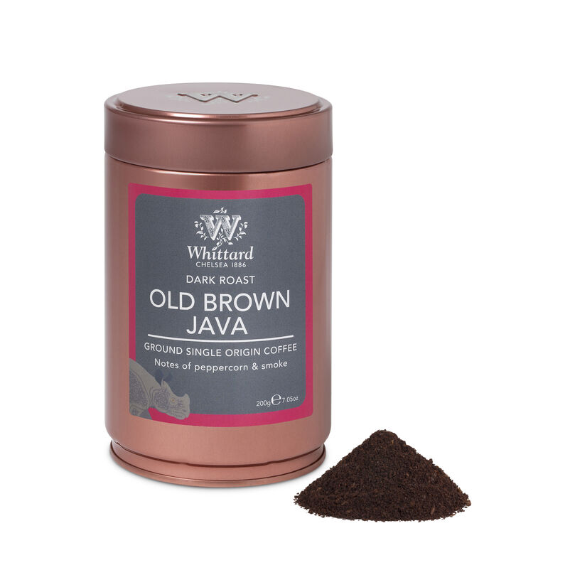 Old Brown Java Ground Coffee Caddy