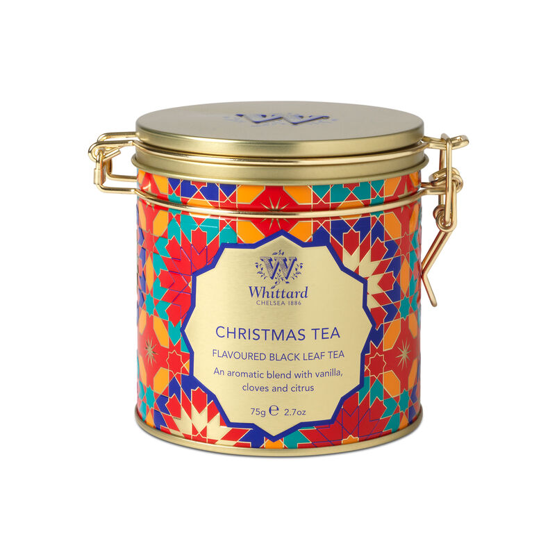 Christmas Tea Clip Top Tin