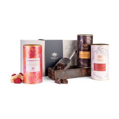 A Match Made in Fruity Heaven Gift Box with Orange hot chocolate, Strawberry Hot Chocolate and Raspberry Ripple Hot Chocolate