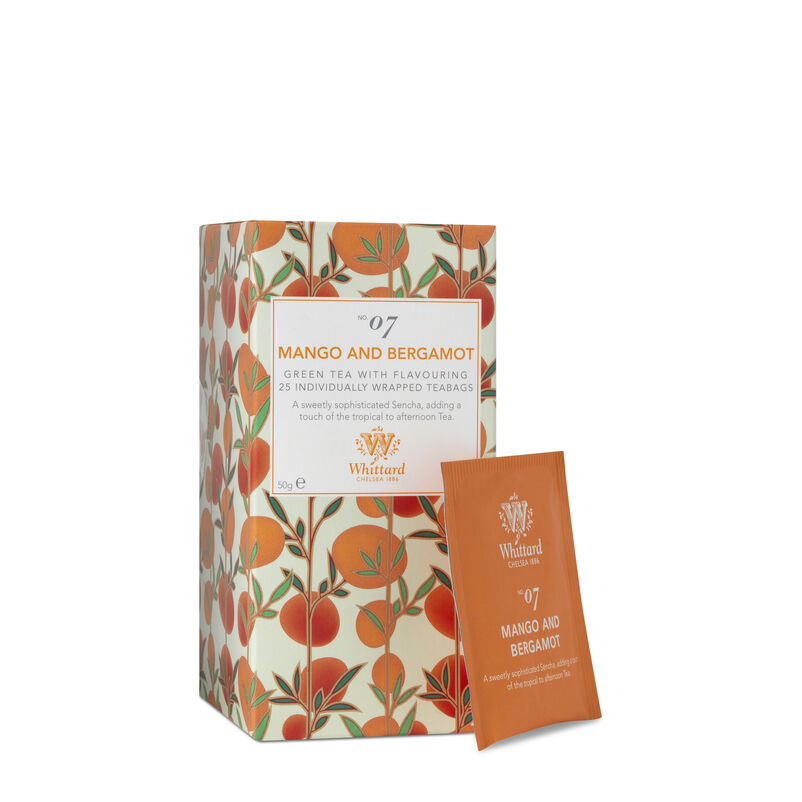 Tea Discoveries Mango & Bergamot 25 Individually Wrapped Teabags