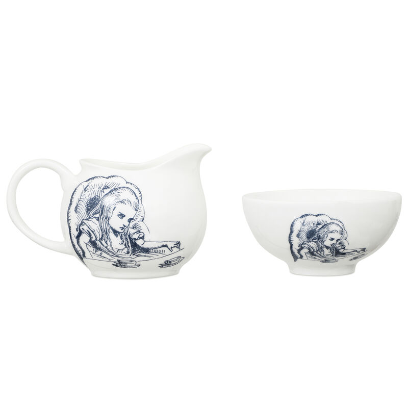 Alice in Wonderland Milk and Sugar Set