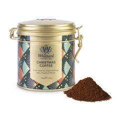 Christmas Coffee Clip Top Tin with ground coffee