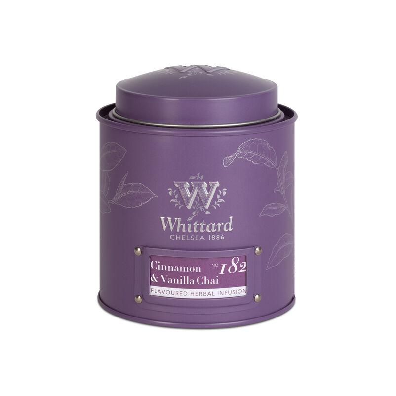 Cinnamon and Vanilla Chai Loose Tea in Purple Caddy