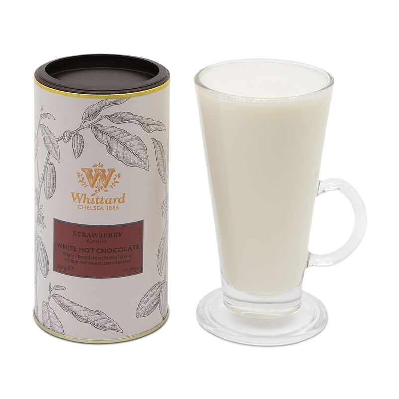 Strawberry Flavour White Hot Chocolate