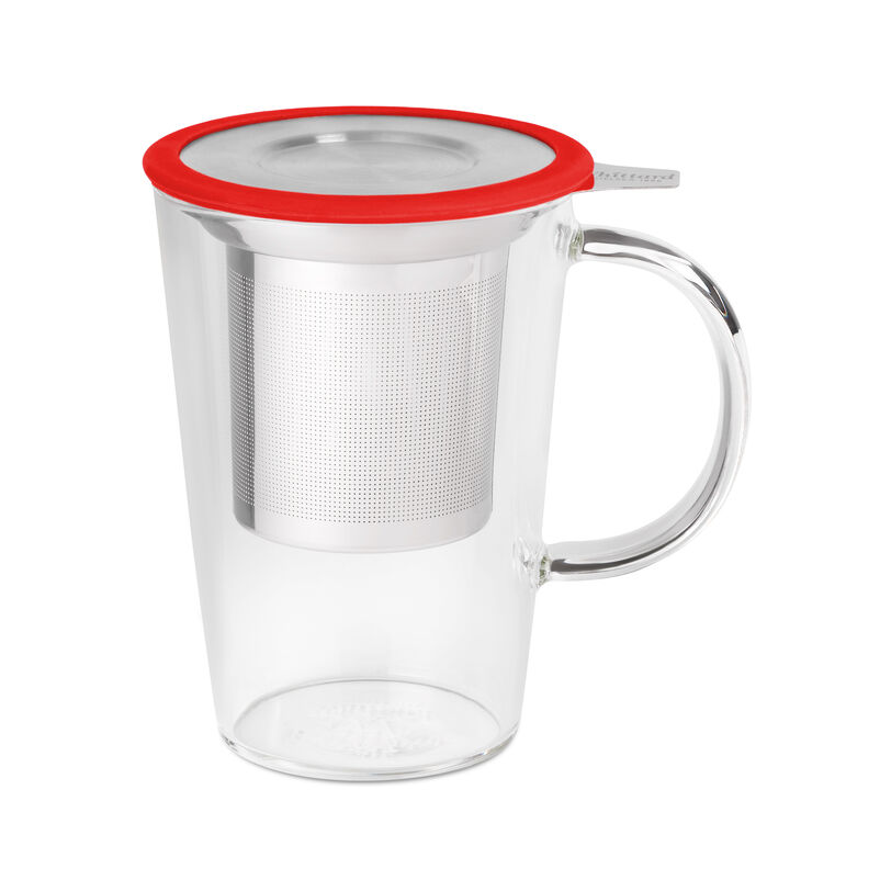 Red Glass Pao Infuser Mug