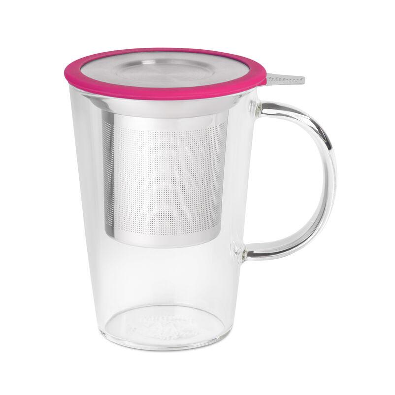 Fuchsia Glass Pao Mug with Infuser