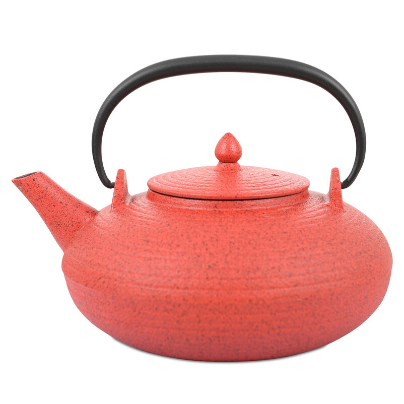 Japanese Tetsubin Red Cast Iron Teapot