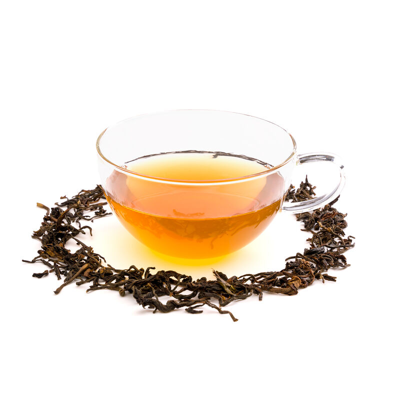 Smoked Thyolo Moto Oolong Loose Tea in a tea cup