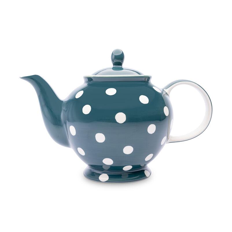 Florence Peacock Spot Teapot