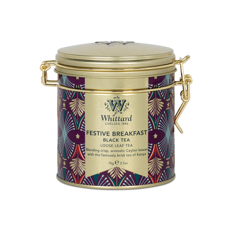 Celebrate Christmas with our Festive Breakfast Clip Top Tin, perfect for your morning cuppa and in a handy stacking clip top tin, you'll love tea time this year.