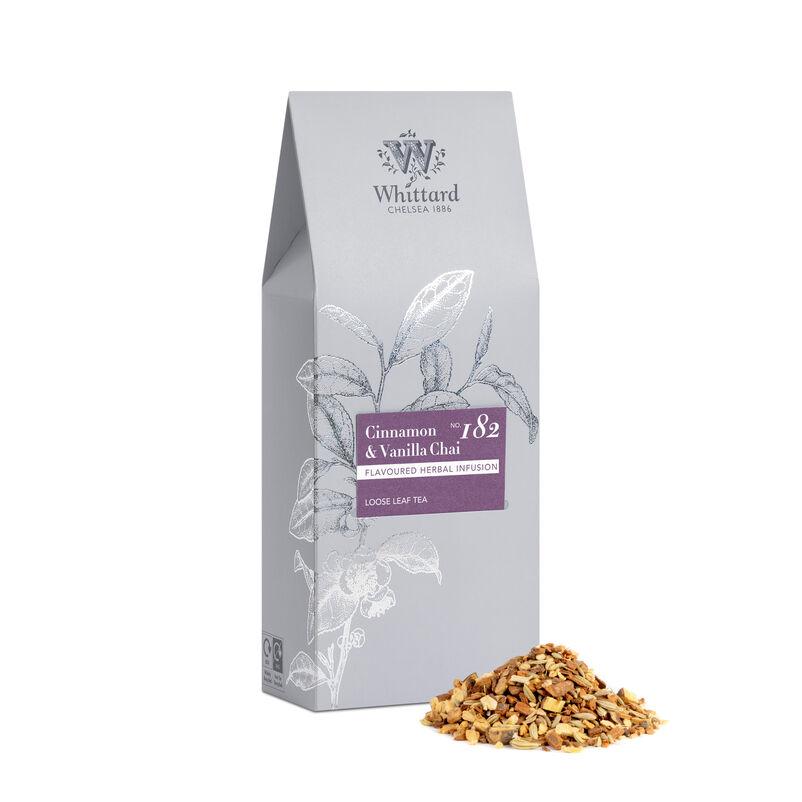 Cinnamon and Vanilla Chai Loose Tea in silver pouch