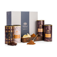 The Hot Chocolate Favourites Gift Box featuring 4 hot chocolates