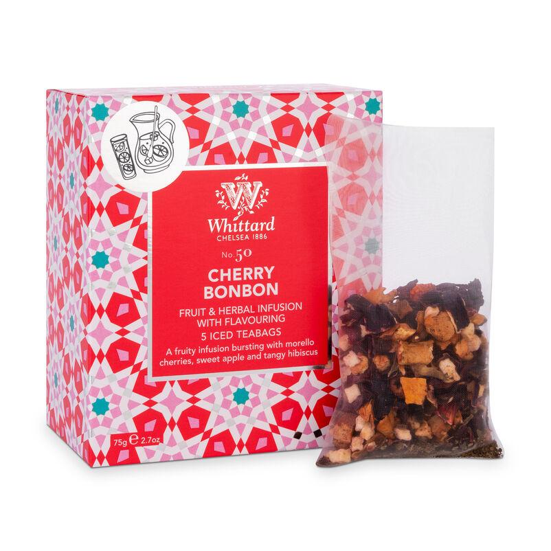 Cherry Bon Bon Iced Teabags with large teabag