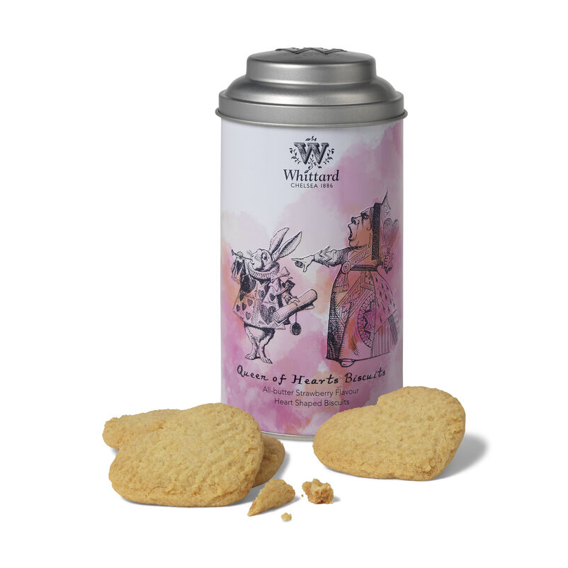 Queen of Hearts Strawberry Flavour Shortbread Biscuits