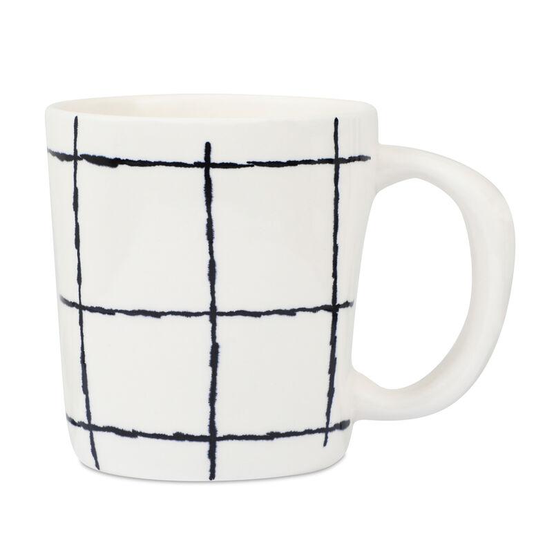 Black Check Mug