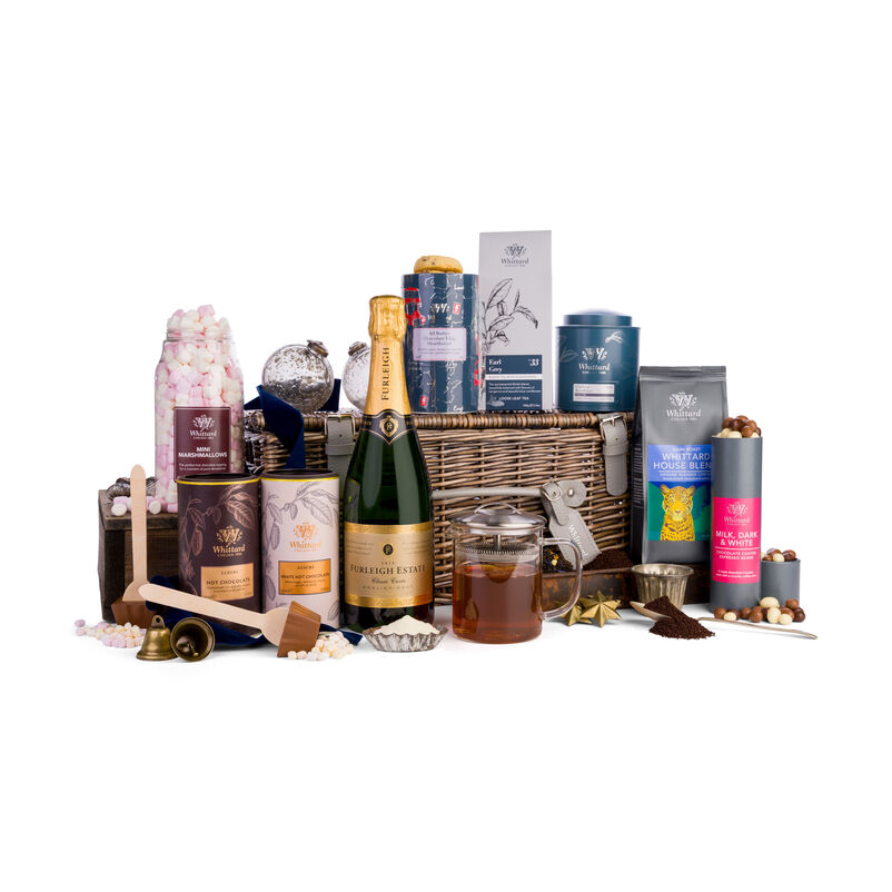 The All-Singing, All-Dancing Hamper with Christmas ribbon