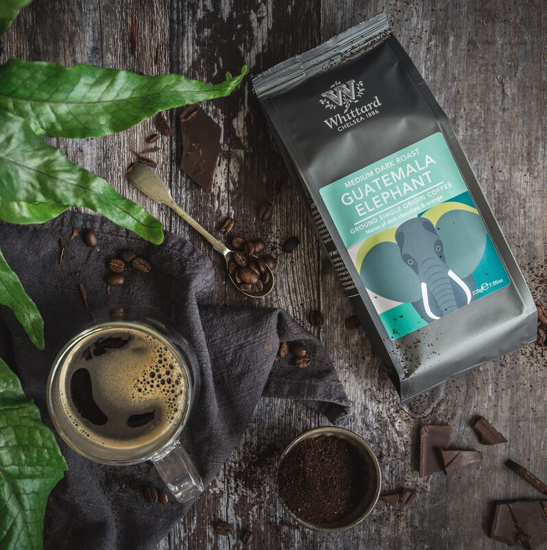 Guatemala Elephant Coffee Valve Pack with Coffee Cup