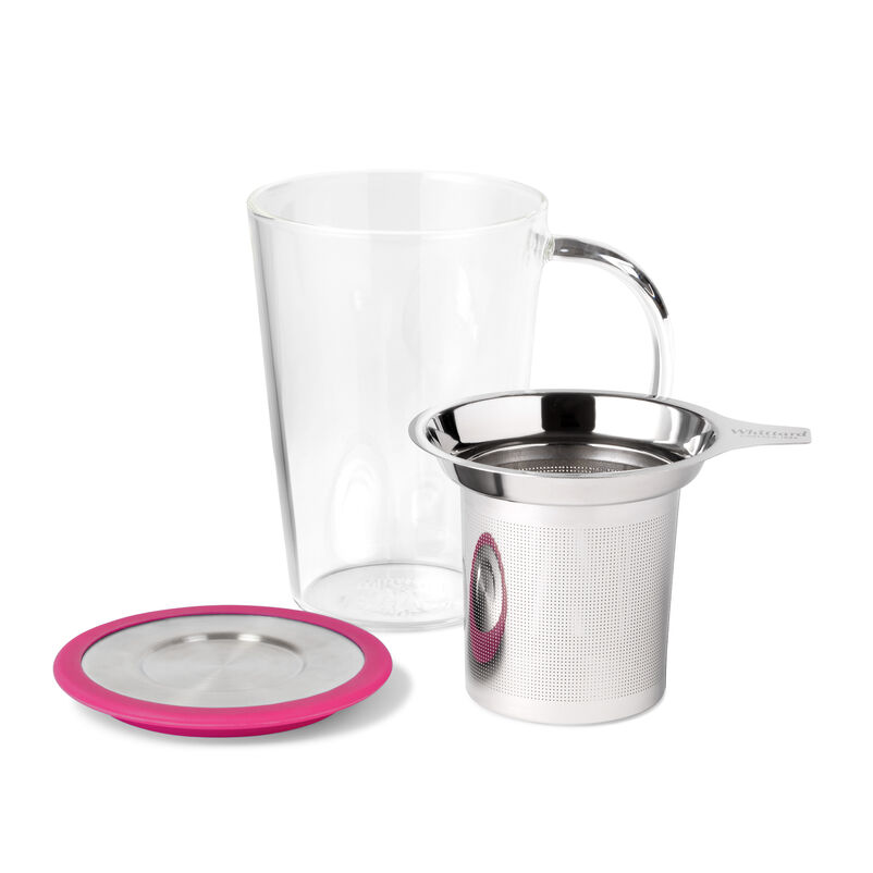 Fuchsia Glass Pao Mug with Infuser