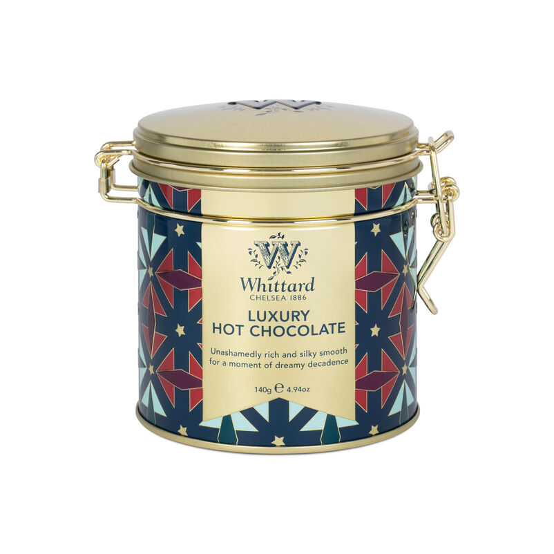 Give the gift of hot chocolate this season with our beautiful, art deco inspired Luxury Hot Chocolate Clip Top Tin.