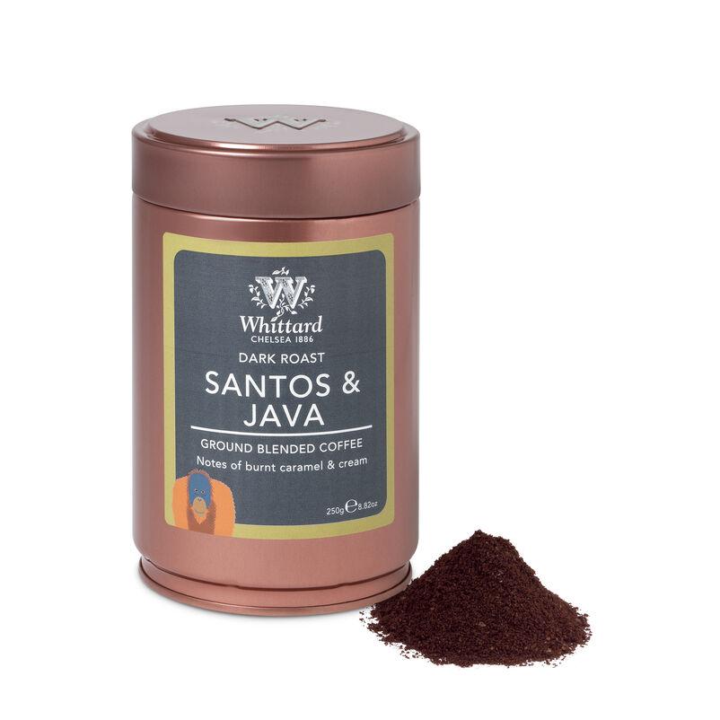 Santos and Java Ground Coffee Tin, Whittard ground coffee