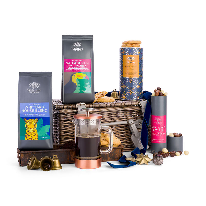 The Coffee Hamper with christmas decoration