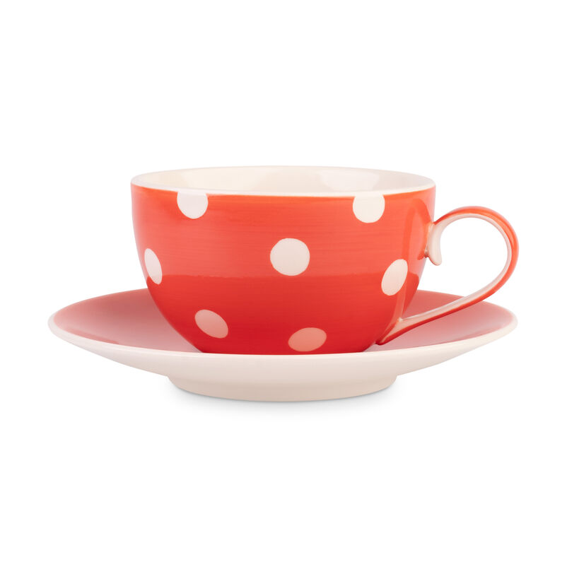 Florence Coral Cup and Saucer